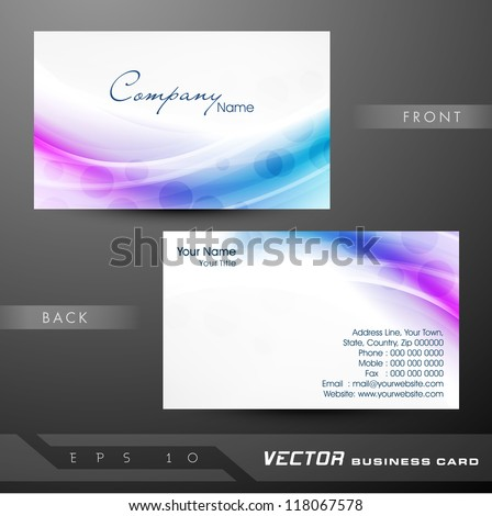 Abstract professional designer business card template stock vector abstract colorful bright color professional and designer business card template or visiting card set eps reheart Choice Image