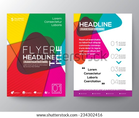 abstract colorful brochure flyer design layout ベクター画像素材