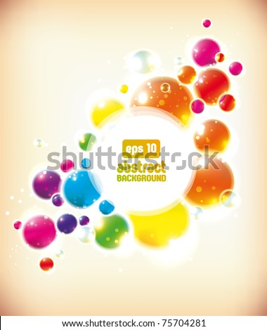 Abstract colorful bubbles background - stock vector