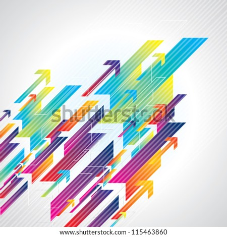 Abstract colorful business background - stock vector