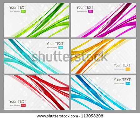 Abstract colorful business card - stock vector