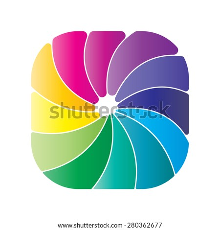 Abstract Colorful Business Logo, Icon, Vector Illustration.