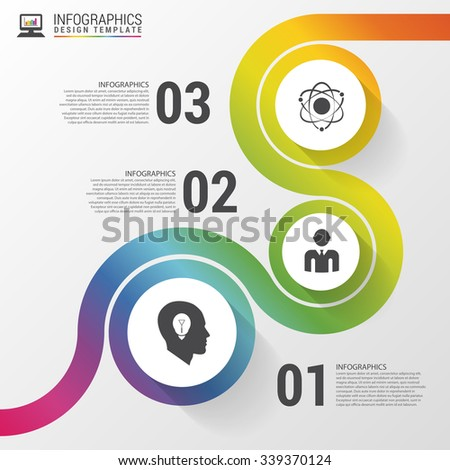 Abstract colorful business path. Timeline infographic template. Vector illustration - stock vector