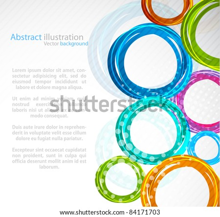 Abstract colorful circle - stock vector
