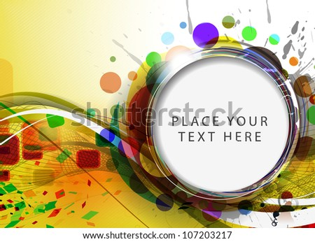 abstract colorful circle banner for your text. vector illustration.