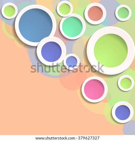 Abstract Colorful Circle Design.Vector Elegant Background.