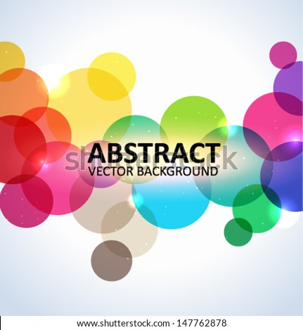 Abstract colorful circles background - stock vector