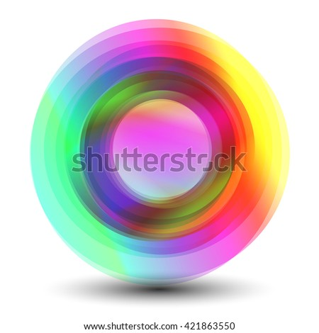 Abstract colorful circles illustration, clip art. Design element. Abstract shape background. - stock vector
