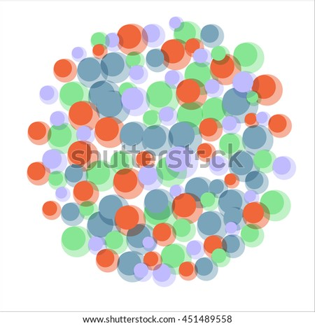 abstract colorful circles on a white background.