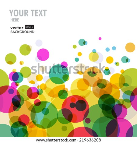Abstract colorful circles pattern. Vector seamless background.  - stock vector
