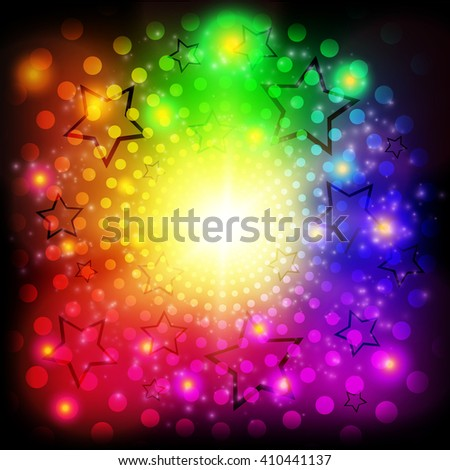 Abstract colorful circles shining background. Vector illustration