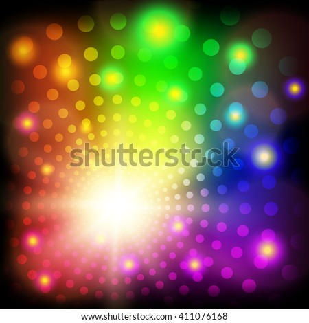 Abstract colorful circles shining background. Vector illustration - stock vector