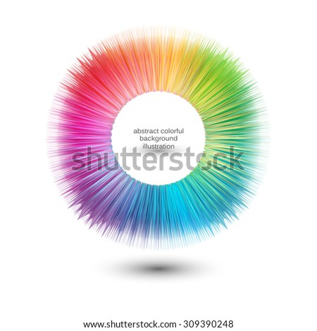 Abstract colorful clip art, design element illustration - stock vector