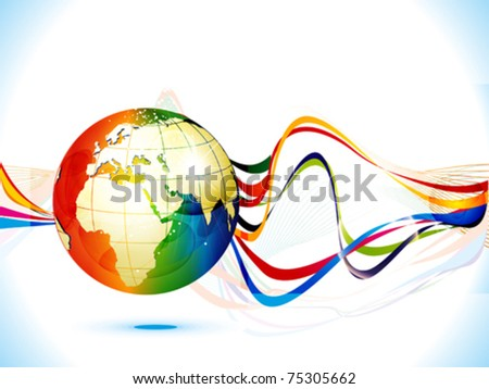 abstract colorful corporate background globe vector illustration - stock vector