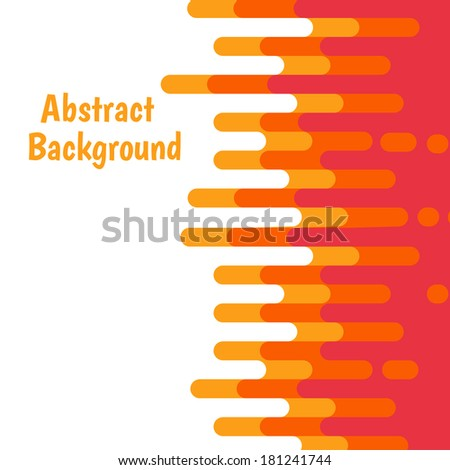 Abstract colorful curve background design. Vector illustration - stock vector