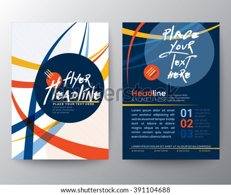Abstract Colorful Curved Line shape Poster Brochure Flyer design Layout vector template in A4 size - stock vector