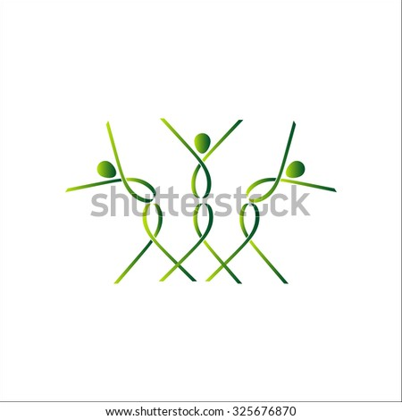 Abstract colorful dancing figures - stock vector