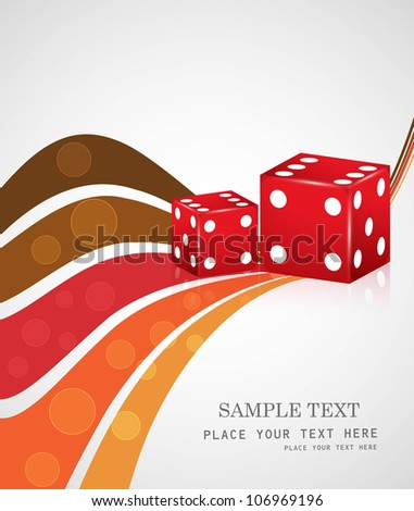abstract colorful dices reflection wave vector design