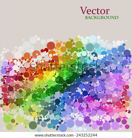Abstract colorful dotted background. Vector.  - stock vector