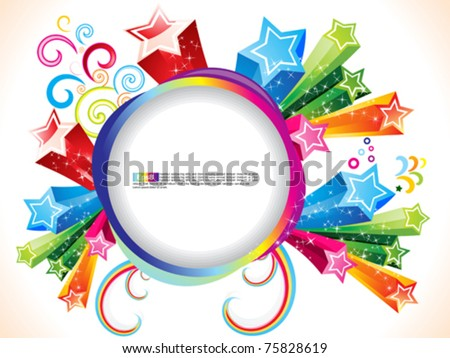 abstract colorful explode with stars  vector illustration - stock vector