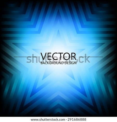 Abstract colorful explosion design, Blue winter shade, Modern disco lights background. - stock vector
