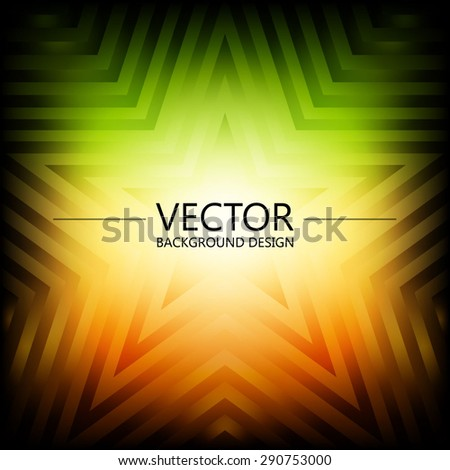 Abstract colorful explosion design, Green and orange shade, Modern disco lights background. - stock vector
