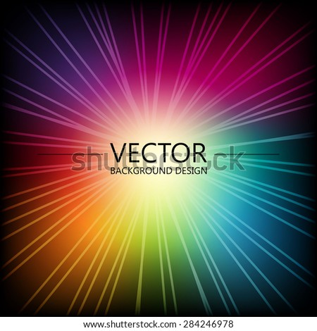 Abstract colorful explosion design, Modern disco lights background. - stock vector