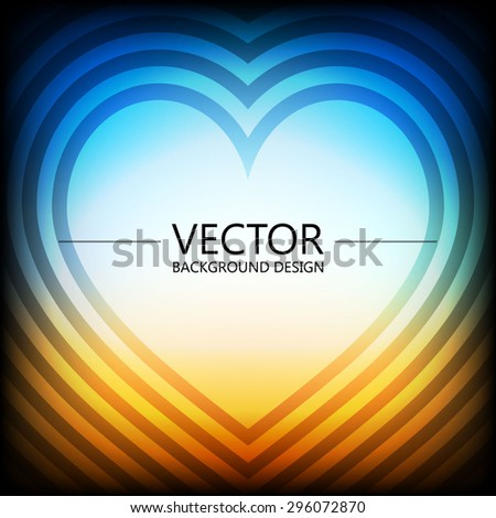 Abstract colorful explosion design, Sweet heart template, Modern lights background. - stock vector