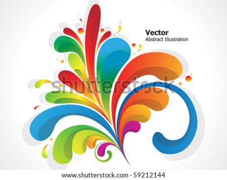 abstract colorful floral background vector illustration