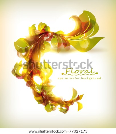 Abstract colorful floral vector background - stock vector