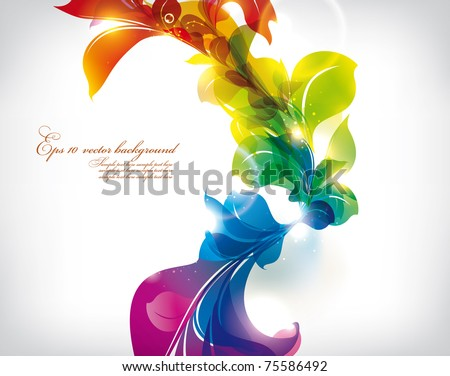 Abstract colorful flovers vector background - stock vector