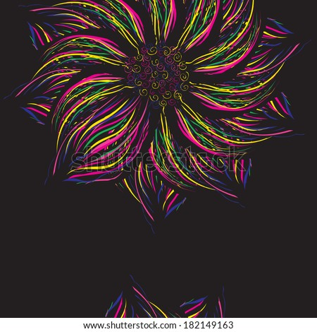 Abstract colorful flower, vector background, element for cards and templates.