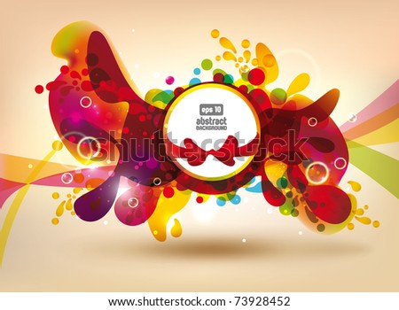Abstract colorful flowers vector banner