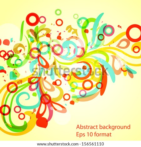 abstract colorful frame eps10 vector