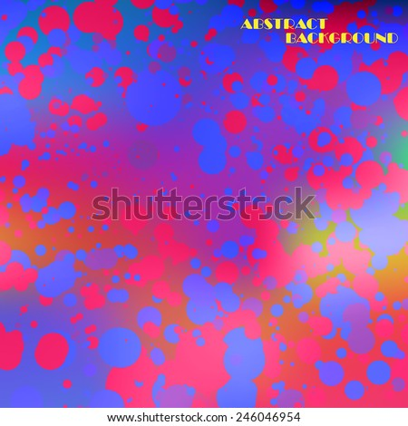 Abstract colorful frame of circles, vector art Illustration - stock vector