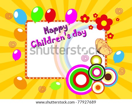 abstract colorful funky concept background for happy children's day