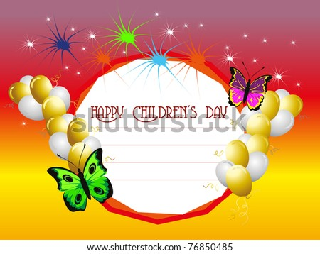 abstract colorful funky concept greeting card for happy children's day