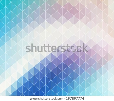 Abstract colorful geometric background. - stock vector