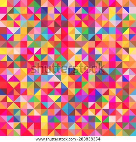 Abstract colorful geometric background - stock vector