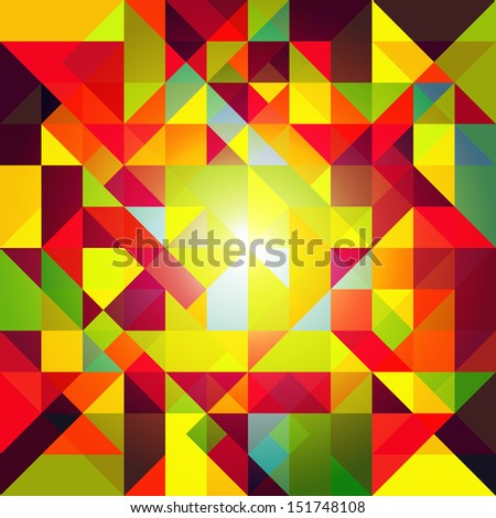 Abstract Colorful Geometric Background Wallpaper - stock vector
