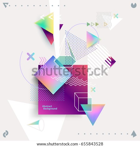 Abstract colorful geometric composition