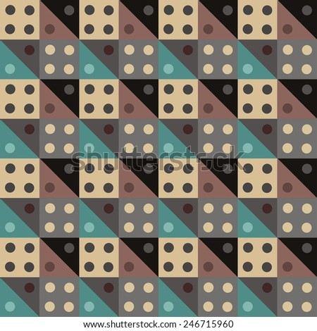 Abstract colorful geometric seamless pattern. Modern background texture  - stock vector