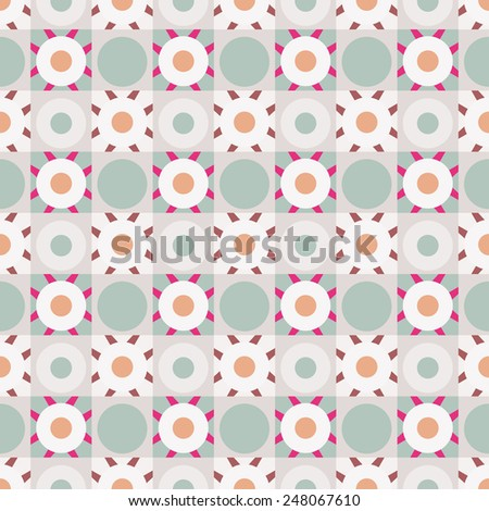 Abstract colorful geometric seamless pattern. Mosaic repeating background texture  - stock vector