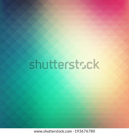 Abstract colorful geometric style background with soft pastel tones - stock vector