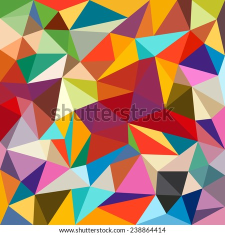 Abstract colorful geometrical background - Vector - stock vector