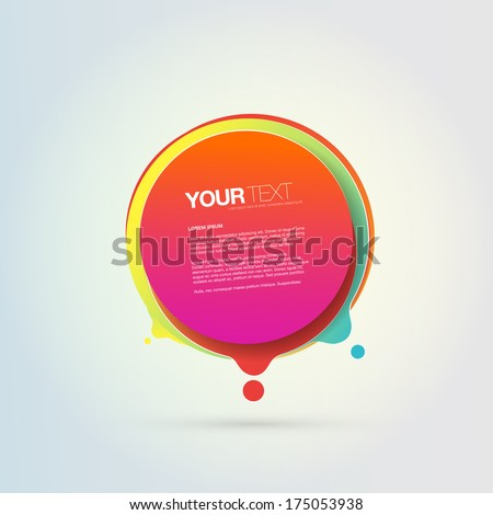 Abstract colorful geometrical circles design bubble with your text  Eps 10 vector illustration  - stock vector