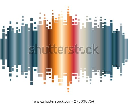 Abstract colorful gradient indicator. Abstrsct vector background - stock vector