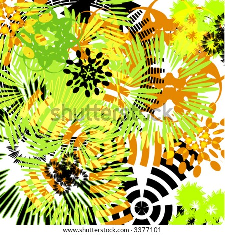 abstract colorful grunge background - vector -