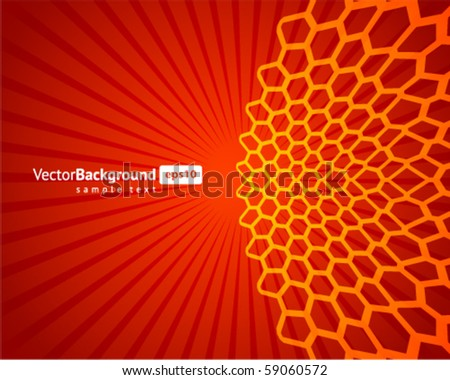 Abstract colorful honeycomb vector background - stock vector