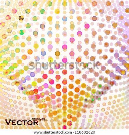 Abstract colorful illustration, creative vector background eps10. - stock vector